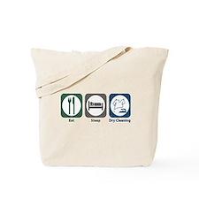 Eat Sleep Dry Cleaning Tote Bag