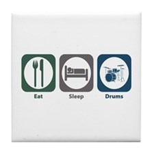 Eat Sleep Drums Tile Coaster