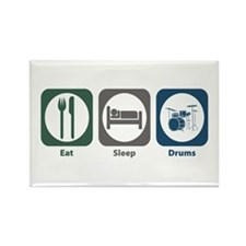 Eat Sleep Drums Rectangle Magnet (100 pack)