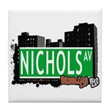NICHOLS ST, BROOKLYN, NYC Tile Coaster