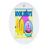 40th Birthday Keepsake (Oval)