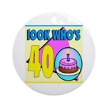 40th Birthday Keepsake (Round)