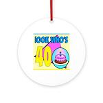 40th Birthday Keepsake (Round)