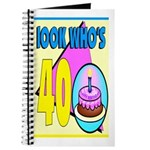 40th Birthday Journal