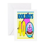 40th Birthday Greeting Cards (Pk of 10)