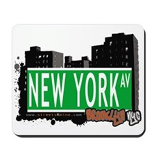 NEW YORK AV, BROOKLYN, NYC Mousepad