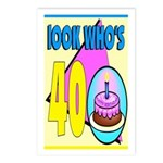 40th Birthday Postcards (Package of 8)