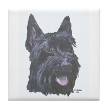 Scottish Black Terrier Tile Coaster