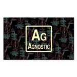 AGNOSTIC RETRO Rectangle Sticker