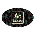 AGNOSTIC RETRO Oval Sticker (10 pk)
