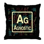 AGNOSTIC RETRO DARK Throw Pillow