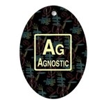 AGNOSTIC RETRO Oval Ornament