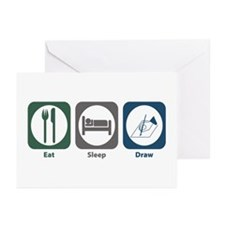 Eat Sleep Draw Greeting Cards (Pk of 20)
