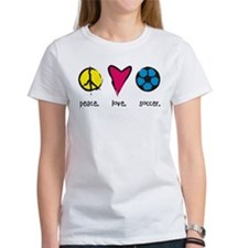 Peace/Love/Soccer Tee