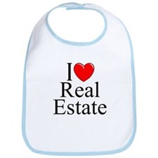 """I Love (Heart) Real Estate"" Bib"