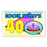 40th Birthday Rectangle Sticker