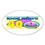 40th Birthday Oval Sticker