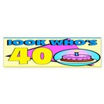 40th Birthday Bumper Sticker