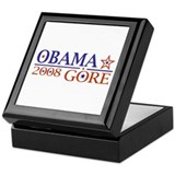 Obama Gore 2008 Keepsake Box