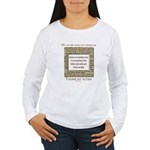 My Autism Does Not Define Me Women's Long Sleeve T