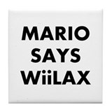 Mario says Wiilax Tile Coaster