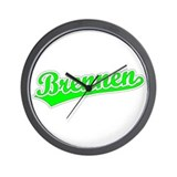Retro Brennen (Green) Wall Clock