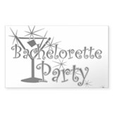 Black C Martini Bachelorette Rectangle Sticker 50