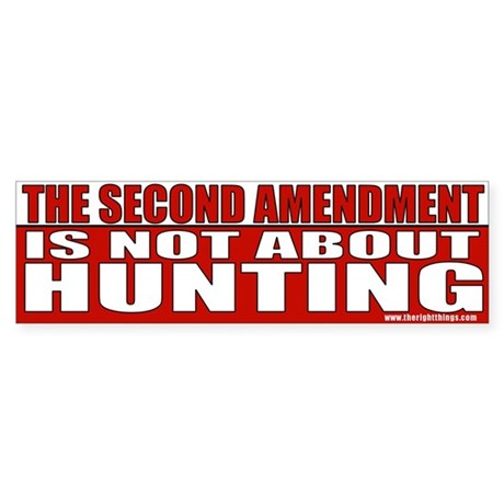 Second Amendment Conservative Bumper Sticker
