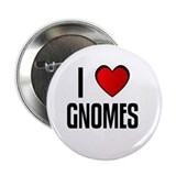"I LOVE GNOMES 2.25"" Button (10 pack)"
