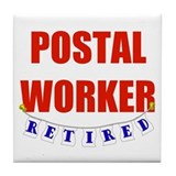 Retired Postal Worker Tile Coaster