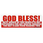God Bless Conservative Bumper Sticker