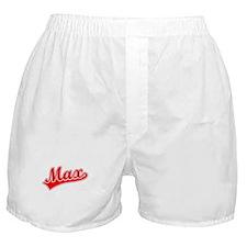 Retro Max (Red) Boxer Shorts