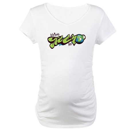 Think Green - Graffity Maternity T-Shirt