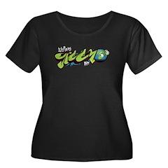 Think Green - Graffity Women's Plus Size Scoop Nec