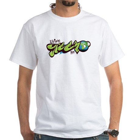 Think Green - Graffity White T-Shirt