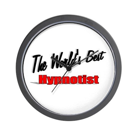 """The World's Best Hypnotist"" Wall Clock"