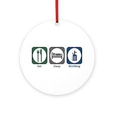 Eat Sleep Distilling Ornament (Round)