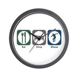 Eat Sleep Discus Wall Clock