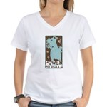 Pit Power Women's V-Neck T-Shirt