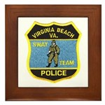 VA Beach PD SWAT Framed Tile