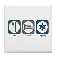 Eat Sleep Deputy Tile Coaster