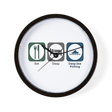 Eat Sleep Deep Sea Fishing Wall Clock