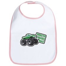 Green Monster Truck Bib