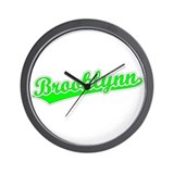 Retro Brooklynn (Green) Wall Clock