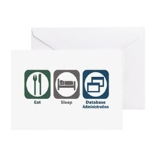 Eat Sleep Database Administration Greeting Card