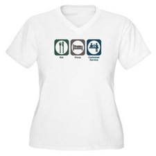 Eat Sleep Customer Service T-Shirt