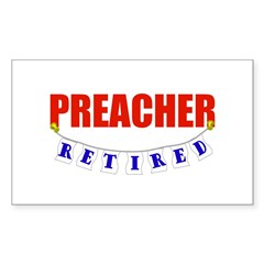 Retired Preacher Rectangle Sticker