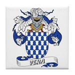 Vera Family Crest Tile Coaster