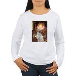 Queen / English Setter Women's Long Sleeve T-Shirt