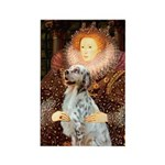 Queen / English Setter Rectangle Magnet